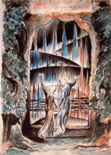 Dante and Virgil at the Gate by William Blake