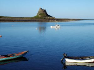 Lindesfarne where Cuthbert was Bishop