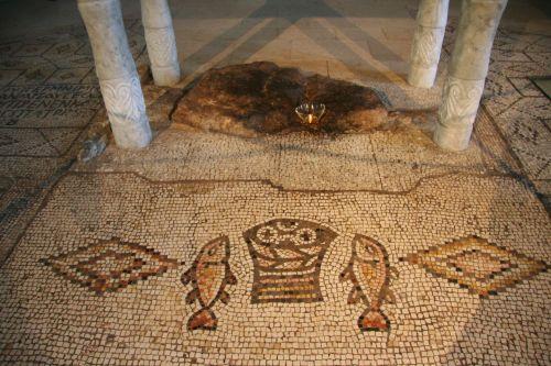 Sixth century mosaic at Tabgha