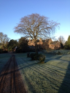 Launde Abbey on St. Lucy's day