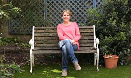 Kate in her garden in Cambridge