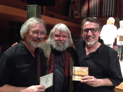 With JAC and Steve Bell in LA. They are holding one another's CDs!