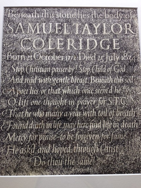 Coleridge's self-composed epitaph