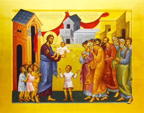 Icon of Christ with the Children