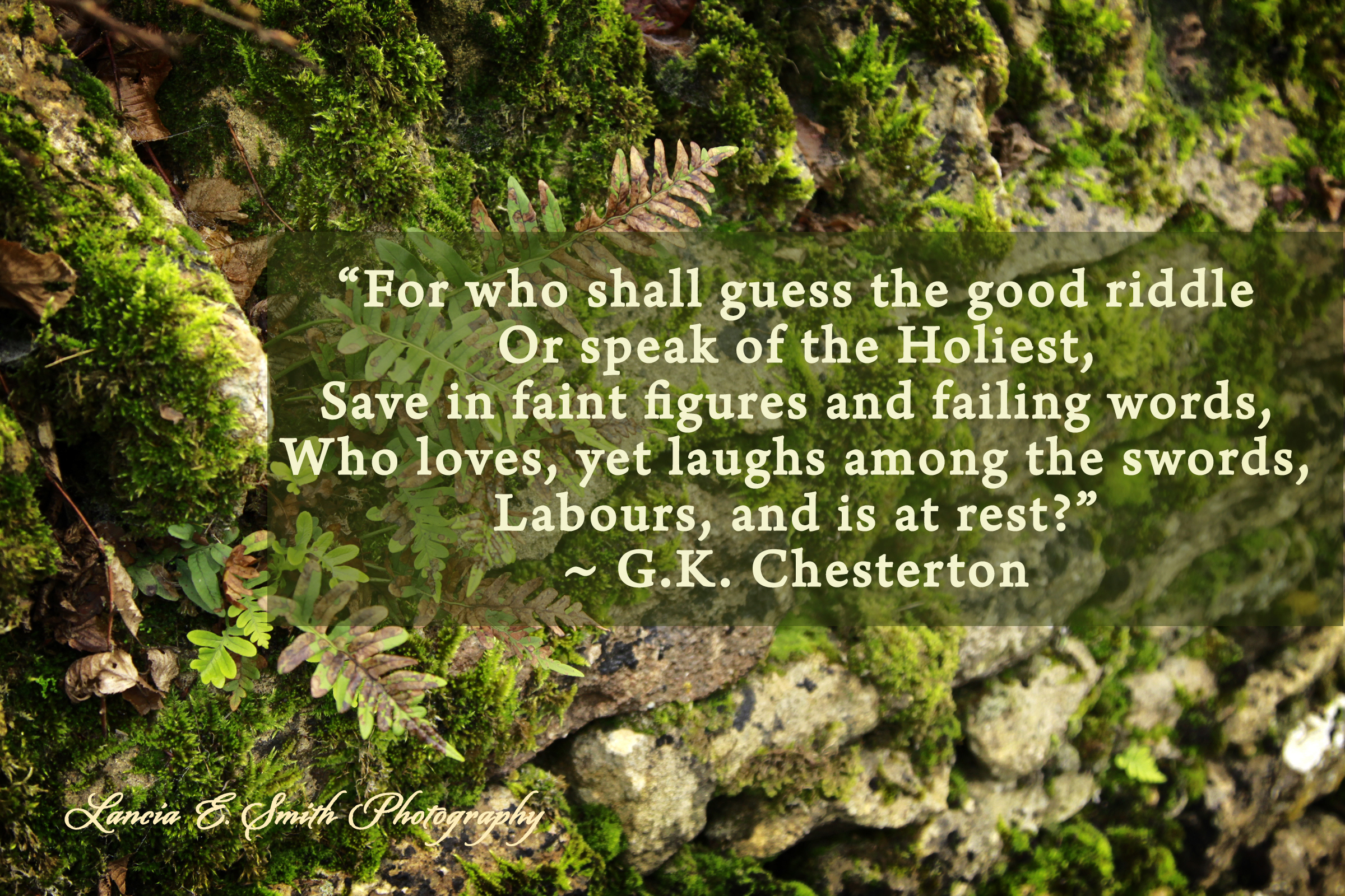gk chesterton malcolm guite the good riddle gk chesterton middot lanciaesmith com image for the day