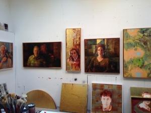 The ordinary saints in Bruce's studio