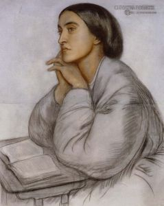 Christina Rossetti painted by her brother Dante Gabriel Rossetti