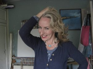 Linda Richardson in her studio
